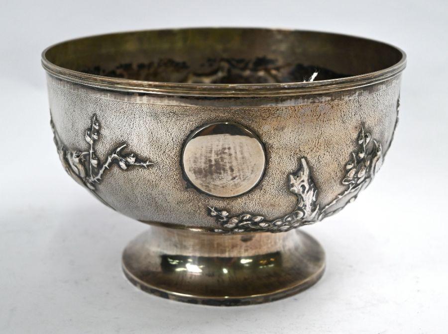 Chinese export silver rose-bowl, Tuck Chang (Shanghai)