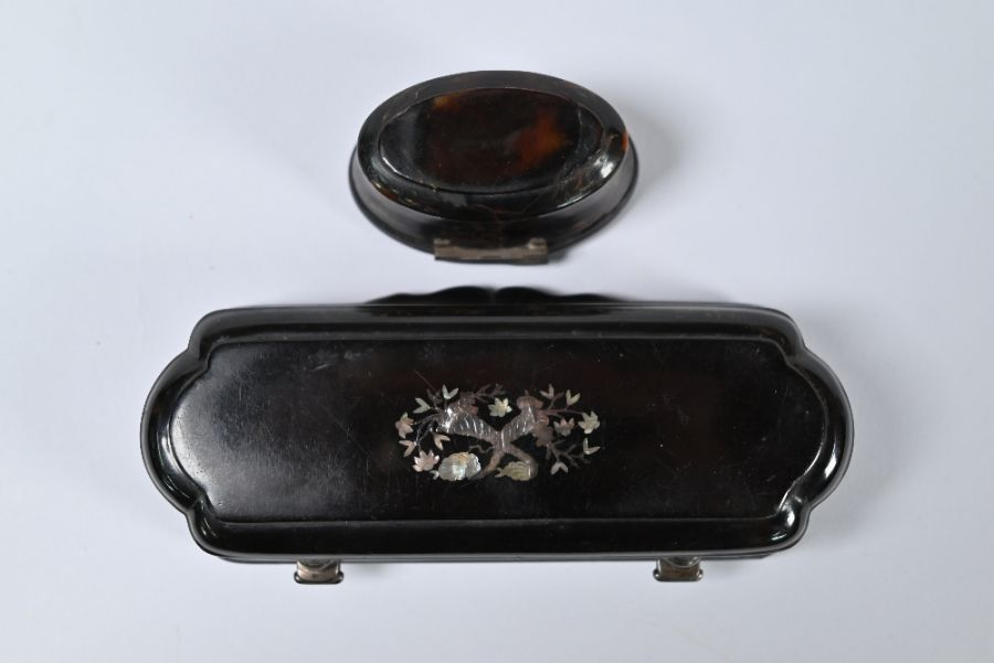Two Continental tortoiseshell snuff boxes - Image 3 of 3