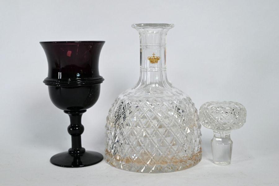 Antique amethyst glass goblet - Image 2 of 4