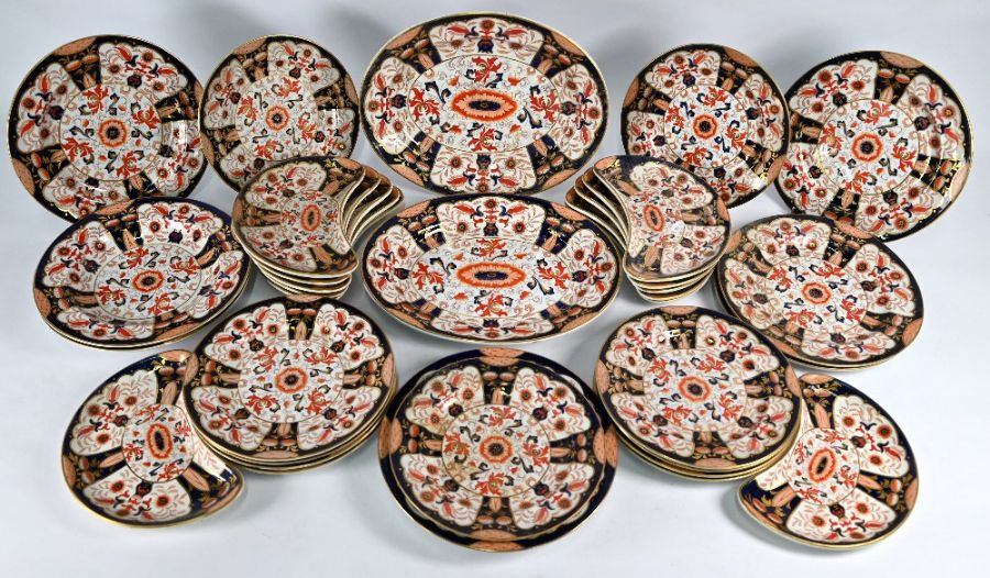 A Victorian Ashworth Brothers Real Ironstone china part dinner service - Image 2 of 5
