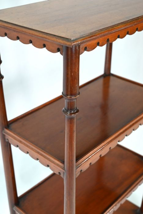 A Victorian mahogany three tier bookstand / what-not - Image 3 of 4