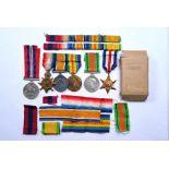 A WWI trio of medals to J.13071 E. Denham, A.B. R.N (3)