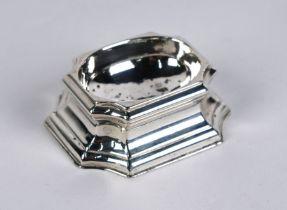 George II silver trencher salt