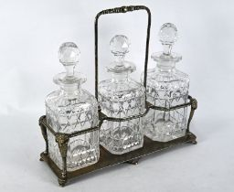 Victorian electroplated decanter stand