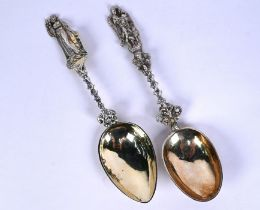 Two 18th Century Continental silver cabinet spoons