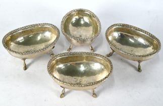 Four Venetian silver open salts - probably 18th Century