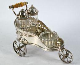 Victorian electroplated novelty cruet