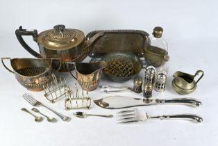 Matthew Boulton Old Sheffield plate snuffers tray, etc.