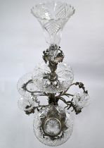 Large Victorian electroplated epergne