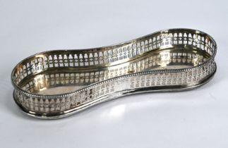 George III silver snuffers tray