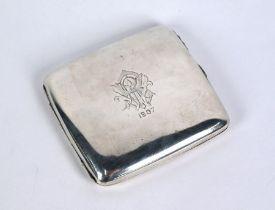 Maritime interest: heavy quality Edwardian silver cigarette case