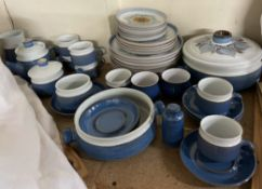 A Chatsworth by Denby part tea and dinner service in blue