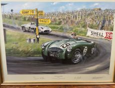 After Nicholas Watts Austin Healey 100 Sebring A Limited edition print No.
