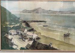 David John Sweetingham Portdinllaen Caernarvon Bay Watercolour Signed
