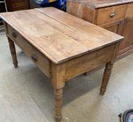 A Victorian pine desk,