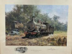 After David Shepherd The Zambezi sawmills railway A print Signed in pencil 21.