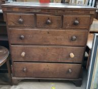 A 19th oak chest,