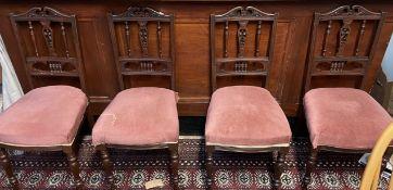 A set of four Edwardian salon chairs