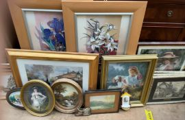 A collection of decorative prints etc