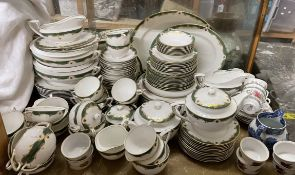 An Extensive Royal Worcester Connaught pattern part tea and dinner service,