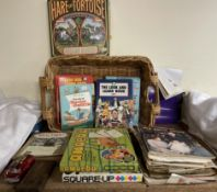 A collection of children's annuals games etc