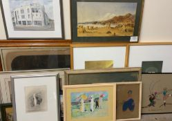 Diana Mead The Washington Watercolour Signed Together with a large collection of paintings and