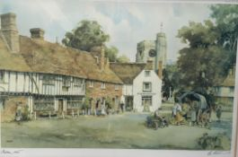 Eric Sturgeon Chilham Kent A limited edition print Signed in pencil to the margin Together with two