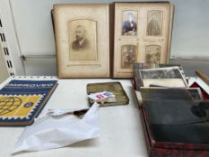 Assorted photographic plates,