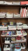 A large collection of Swansea City football programmes together with books on football,