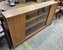 A teak bookcase,