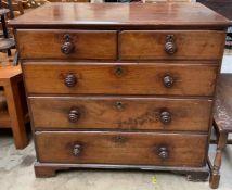 A George III mahogany chest,