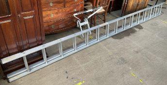 A Youngman Mercury lightweight alloy ladder