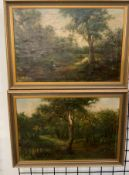 19th century British School A landscape scene with figures Oil on canvas Indistinctly
