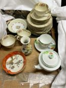 A Noritake part tea set together with assorted pottery