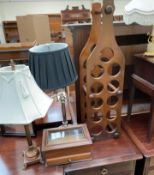 ***Unfortunately this lot has been withdrawn from sale*** A wine rack together with three table
