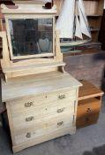A satin walnut dressing table,