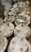 An extensive Royal Doulton Old Leeds Spray pattern part tea and dinner service etc