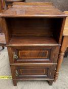 An Edwardian mahogany bookcase cabinet,
