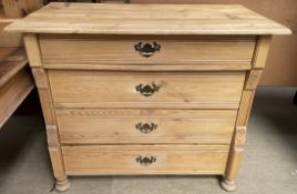 A continental pine chest,