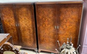 """A pair of """"The Valet"""" compactum wardrobes, with fitted interiors together with a dressing table,"""