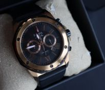A Gentleman's Bulova Marine Star wristwatch, with a black dial,