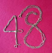 An 18ct gold box link necklace, 36.