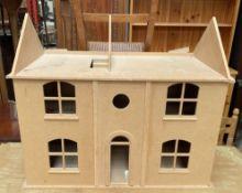 An MDF dolls house