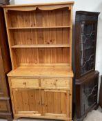 A modern pine dresser,