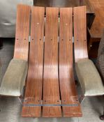 A pair of mid 20th century teak chairs,