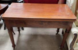 A 19th century mahogany tea table,