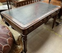 A Victorian oak desk,