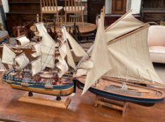 """A model ship, """"The Prawner"""","""
