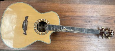 A Crafter electro-acoustic guitar, Moon Light 30th Anniversary model ML-Rose Serial No.