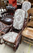 A pair of bentwood rocking chairs